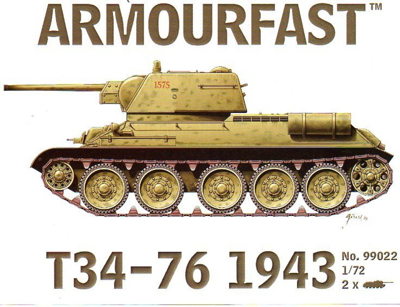 <p>Armourfast 99022 T34-76 1943 1:72 Scale Model Kit</p>
