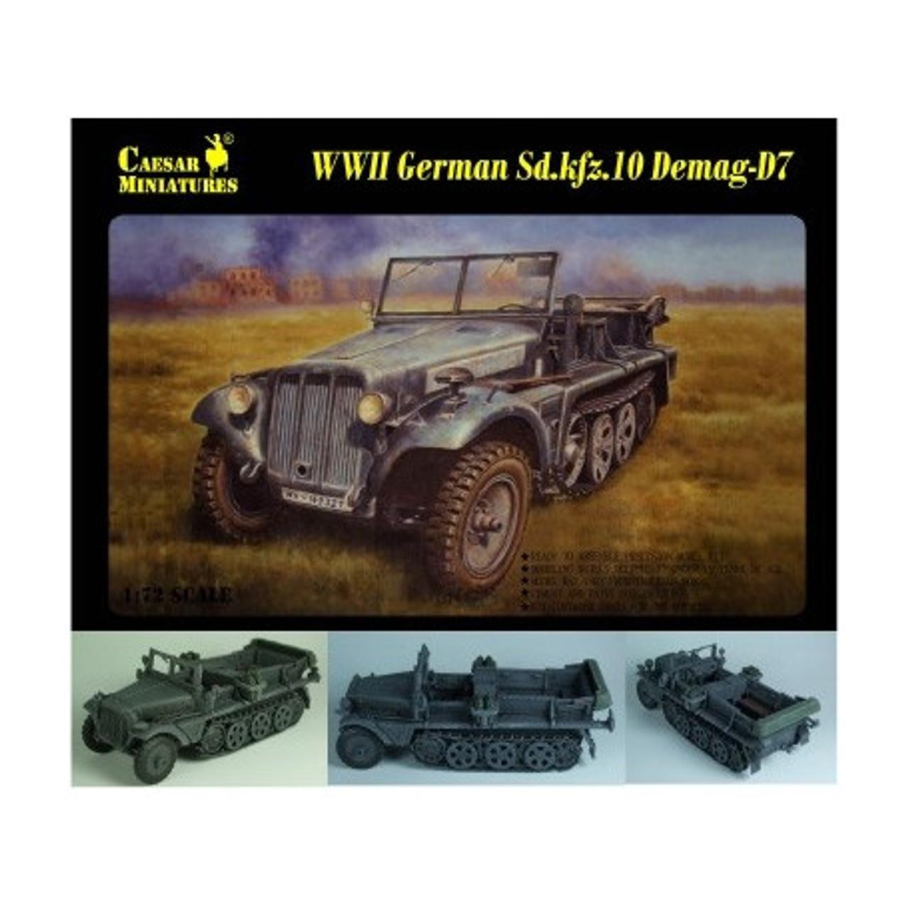 Caesar Miniatures 7204 WWII German Sd.kfz.10 Demag