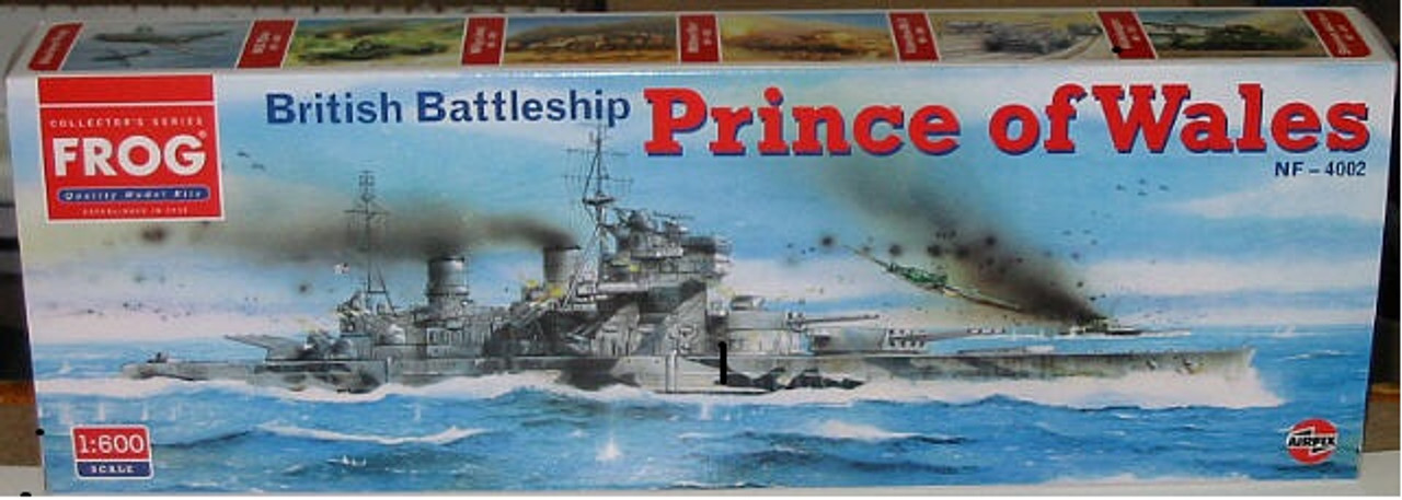 Frog NF-4002 Collector's Series of the HMS British Battleship Prince of Wales 1:600 Scale Model Kit