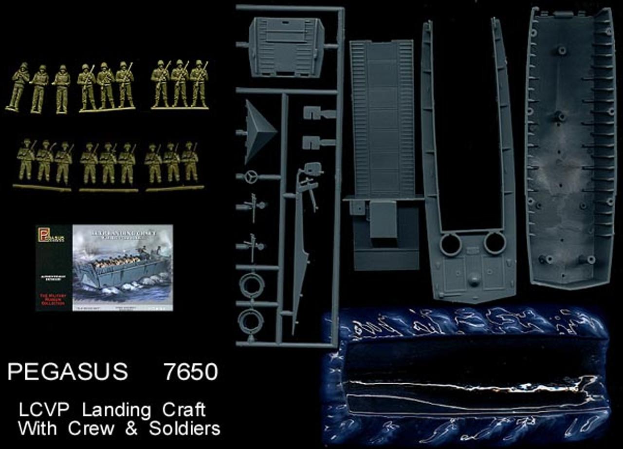 Pegasus Hobbies 7650 LCVP Landing Craft With Crew