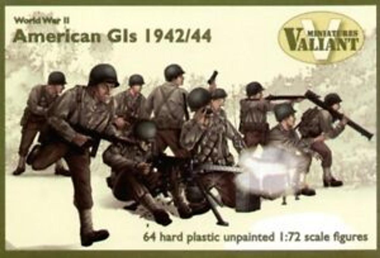 Valiant Miniatures World War II American Gls 1942/44 - 1:72 Scale