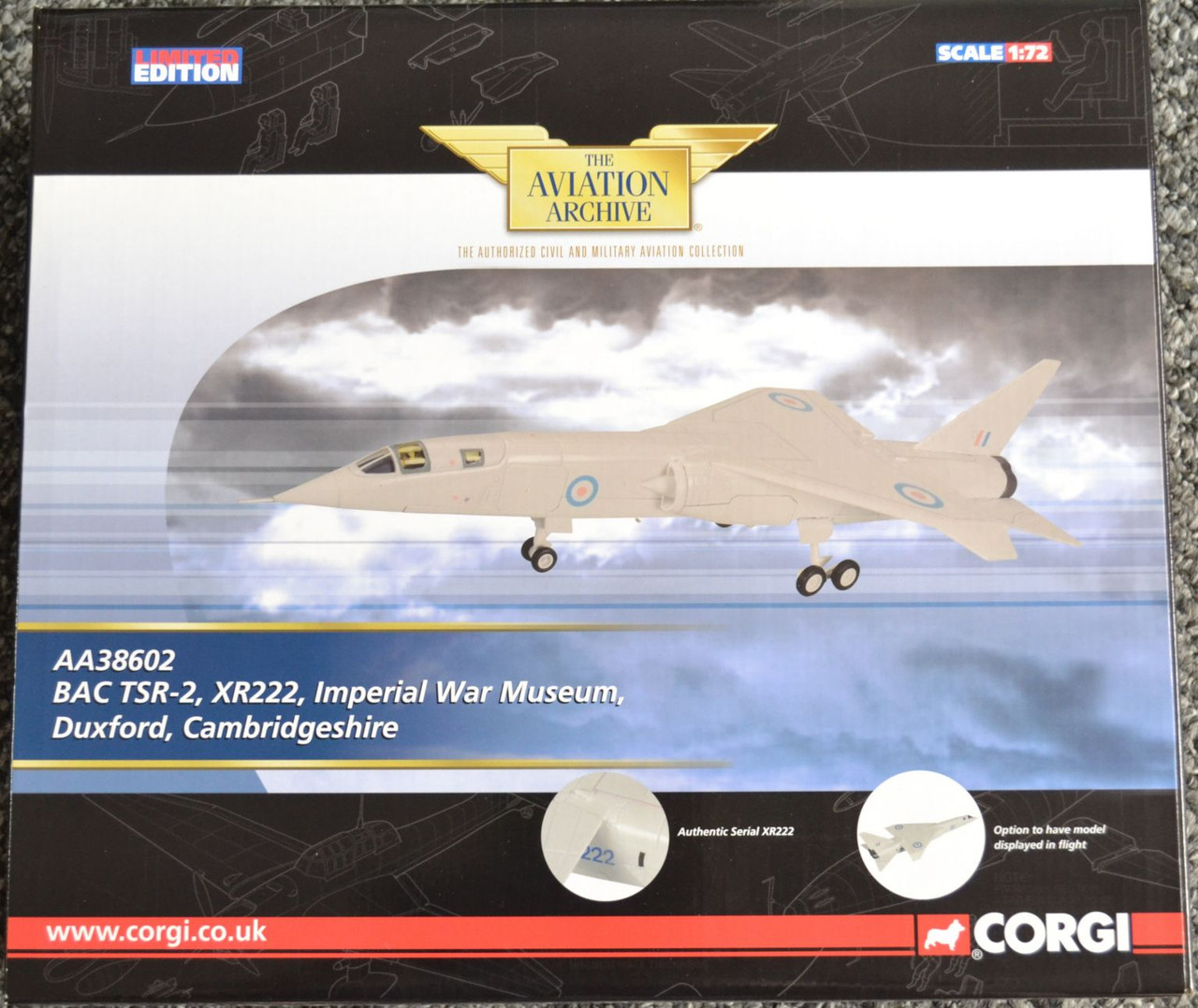 Corgi AA38602 TSR-2 XR222 - 1:72 Scale Diecast Model