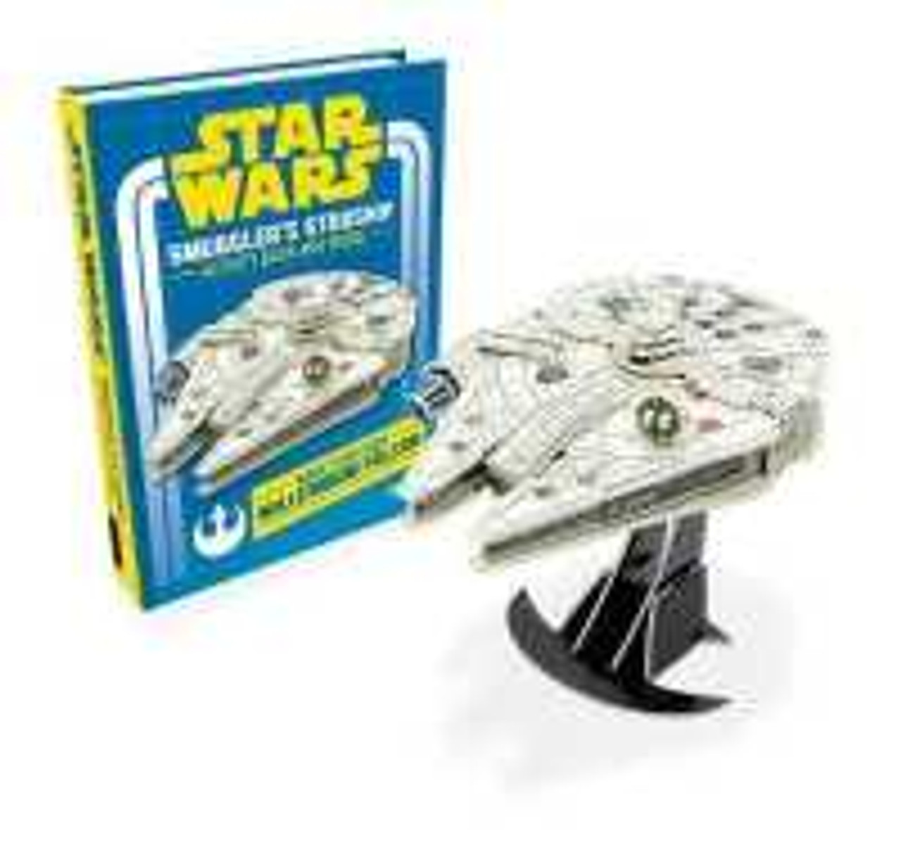 Star Wars Smuggler's starship - activity book and model Lets you join Han and Chewbacca aboard the fastest bucket of bolts in the galaxy. Packed with amazing puzzles and a Millennium Falcon of your own to build, this title offers hours of Star Wars fun such as: mazes, codewords and puzzles.