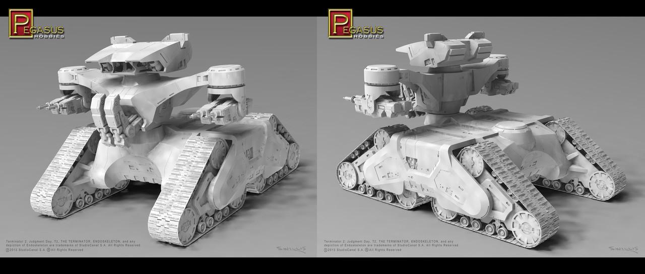 Pegasus Hobbies 9015 T2 Judgement Day The Future War Hunter Killer Tank 1/32 Scale