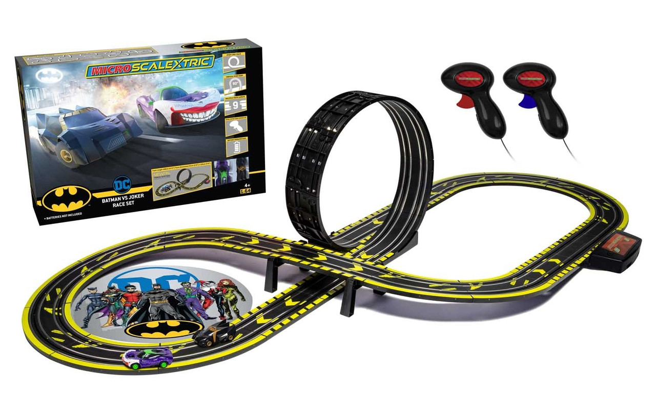 Scalextric G1155M MICRO SCALEXTRIC BATMAN VS JOKER SET BATTERY 1:64 Scale
