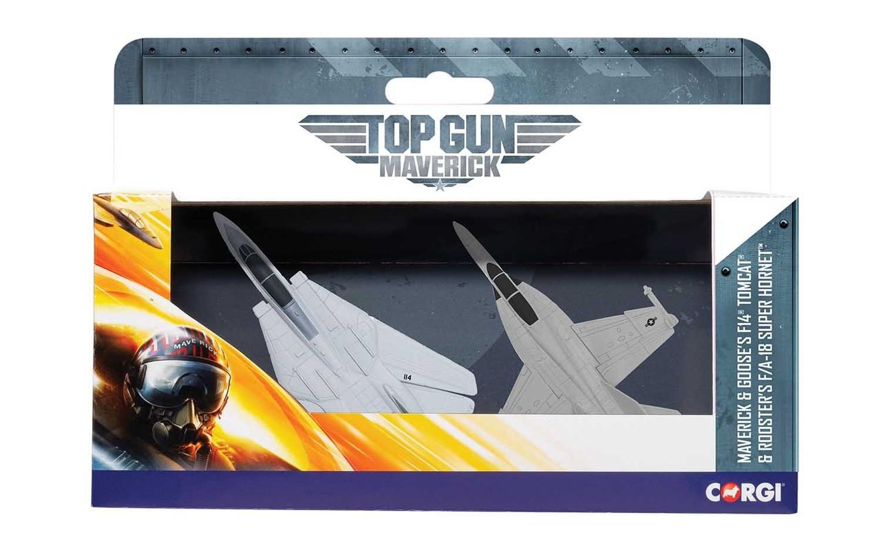 Corgi CS90682  Maverick & Goose's F14 Tomcat (Top Gun, 1986) & Rooster's F/A 18 Super Hornet (Top Gun Maverick, 2020)