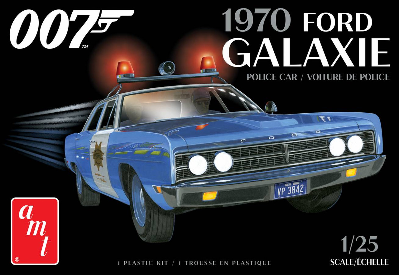 AMT AMT1172M/12 007 1970 Ford Galaxie Police car from Diamonds are forever
