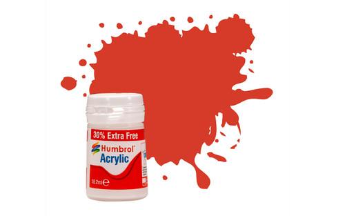 Humbrol Acrylic Paint 174 Satin Signal Red 12 ml J