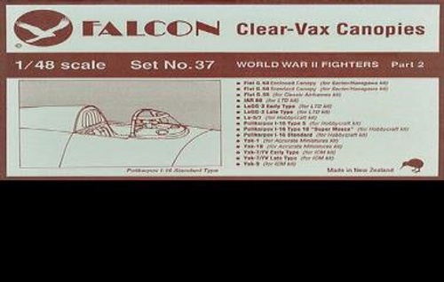 Falcon Clearvax Canopy Set No. 37: World War II Fi