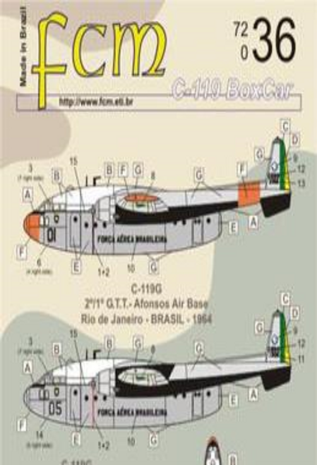 FCM Brazilian Air Force C-119 Boxcar Decals 1:72