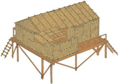 Airfix A06382 Bamboo House 1:32 Scale Model Kit