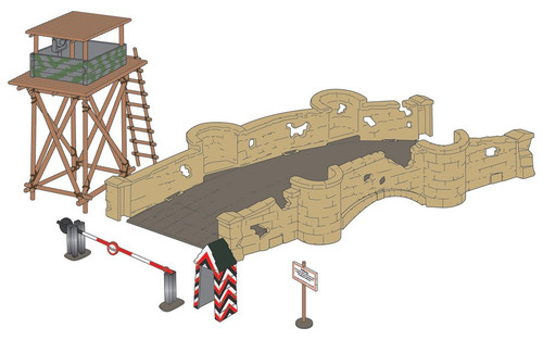 Airfix A06383 Frontier Checkpoint 1:32 Scale Model Kit