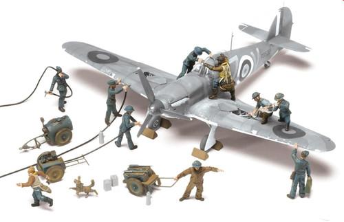 Airfix A04702 WWII Raf Ground Crew (10)  1:48 Scale Figures
