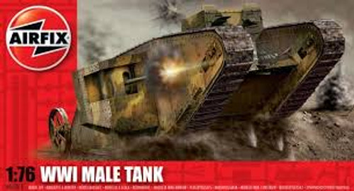 Airfix A01315 WWI 'Male' Tank 1:76 Scale Model Kit