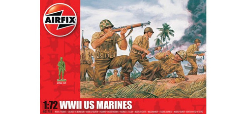 Airfix A01716 WWII US Marines 1:72 Scale Model Figures