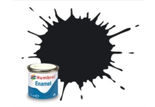 Humbrol Enamel Paint 21 Black Gloss 14ml