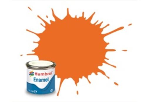 Humbrol Enamel Paint 46 Orange Matt 14ml