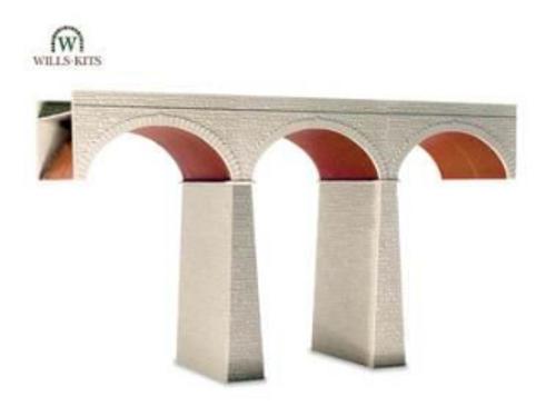 Wills Kits Scenic Series SS80 Three Arch Viaduct O