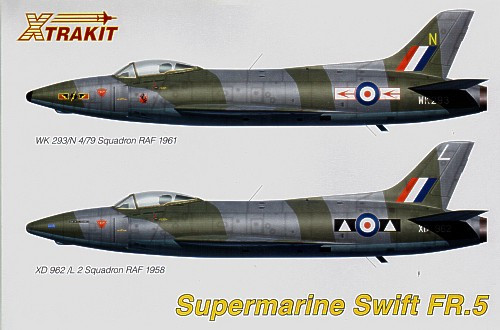 Xtrakit XK72012 Supermarine Swift FR.5 1:72 Scale Model Kit