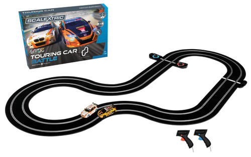 Scalextric C1372 British Touring Car Battle 1:32 Analogue Slot Car Race Ready Set