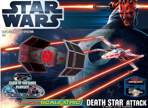 Scalextric G1084 Micro Scalextric Death Star Attack X-Wing Us Tie Fighter 1:64 Scale