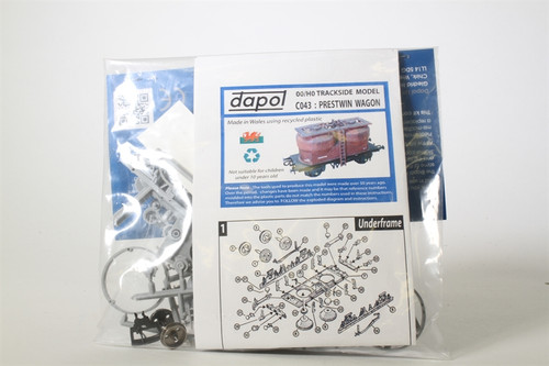 Dapol C043 Twin Silo Wagon  Model Railway Accessor