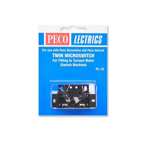 Peco PL-15 Lectrics Twin Micro Switch Kit, for fit