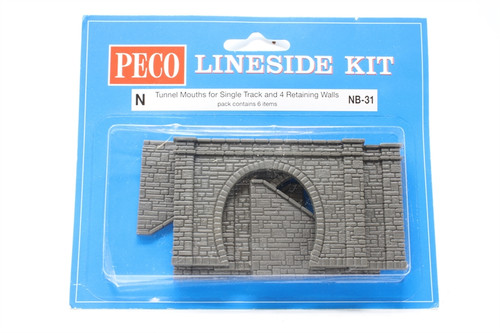 Peco NB-31 Lineside Kits Tunnel Mouth & Walls, sto