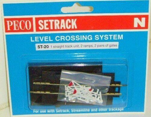 Peco ST-20 Track Accessories Straight Level Crossi