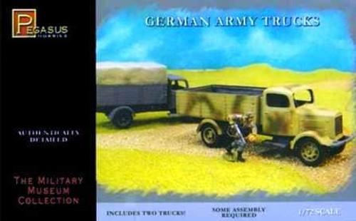 Pegasus Hobbies 7610 German Army Trucks  1:72 Scale Model Kit