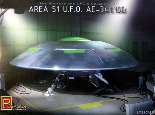 Pegasus Hobbies 9100 Area 51 U.F.O AE-341.15B - 1:72 Scale Model Kit