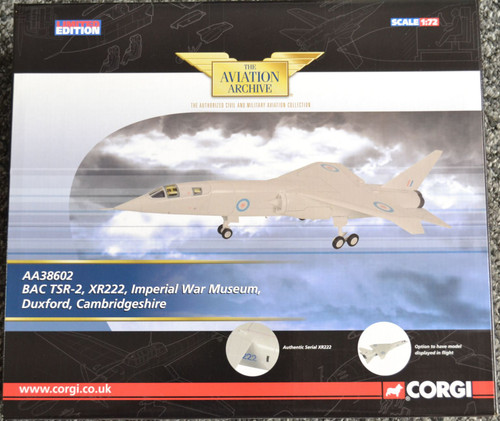Corgi AA38602 TSR-2 XR222 - 1:72 Scale Diecast Model