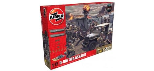 Airfix A50156A D-Day Sea Assault Set 1:72 Scale Model Kit