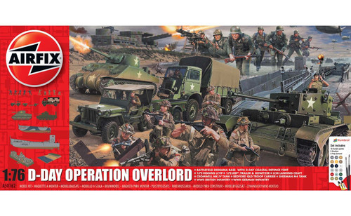 Airfix A50162A D-Day Operation Overlord Set 1:76 Scale Model Kit