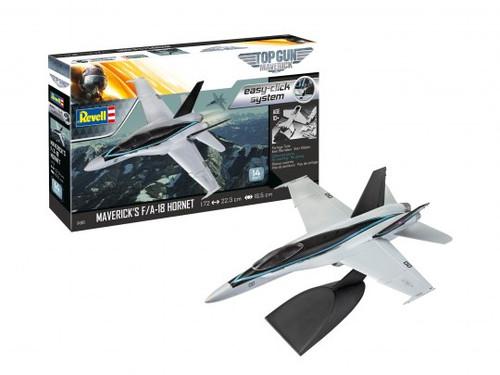 Revell 04965 easy-click system 1:72 Top Gun Maverick's F / A-18 Hornet