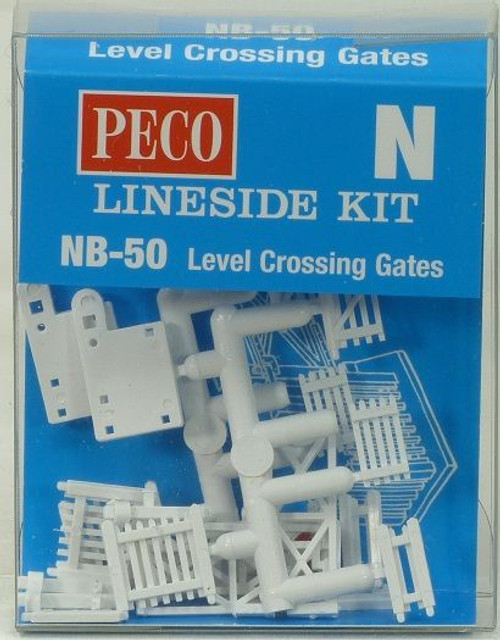 Peco NB-50 N level Crossing Gates (pack contains 22 items)