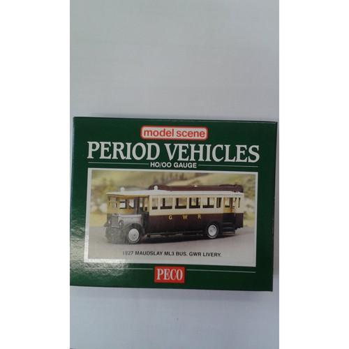 Peco Model Scene Period Vehicles 1927 HO/OO Gauge 1927 Maudslay ML3 Bus, GWR Livery
