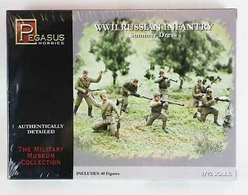Pegasus Hobbies 1:72 Authentically detailed WWII Russian Infantry summer dress