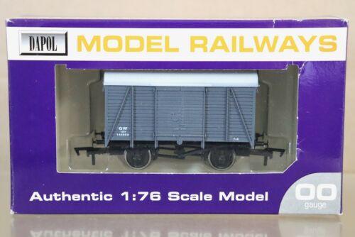 Dapol Model Railways B636A Box Van GWR authentic 1:76 scale model OO gauge