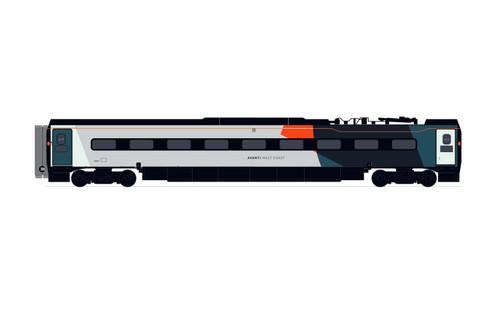 Hornby R40015 OO Gauge Avanti West Coast, Pendolino Pantograph Standard Buffet (PTSRMB) - Era 11
