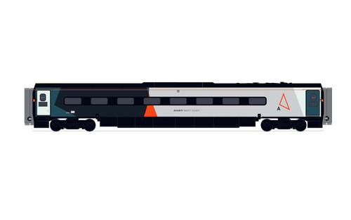 Hornby R40016 OO Gauge Avanti West Coast, Pendolino Trailer standard (MF) - Era 11