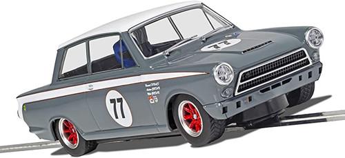 Scalextric C4177 Ford Lotus Cortina - JRT - Howard Donald & Andrew Jordan No. 77