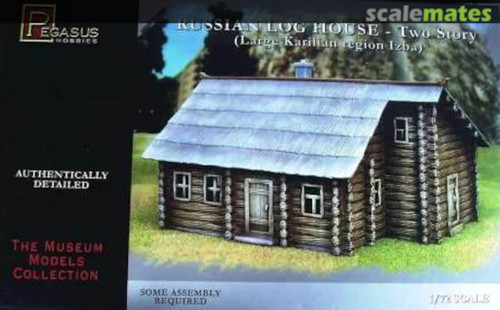 Pegasus Hobbies 7704 1:72 Russian Log House - Two Story (Large Karilian region Izba)