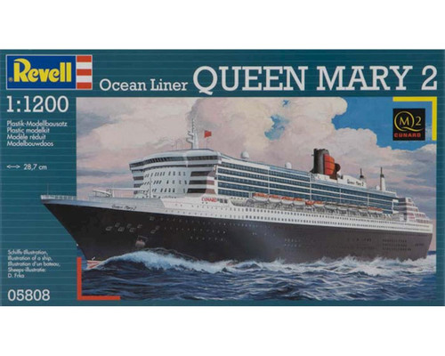 Revell 05808 1:1200 Ocean Liner Queen Mary 2