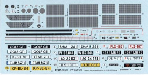 Revell 07008 1:24 VW Golf GTI starter kit