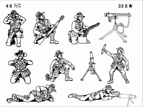 HaT 8190 WWI ANZAC Heavy Weapons 1:72 Scale Figure