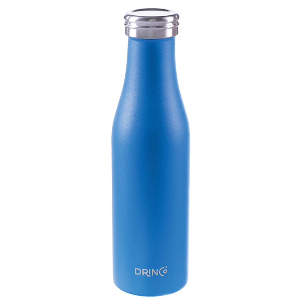 Stainless Steel Double Wall Vacuum Insulated Water Bottle (Slim) 17oz.