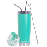 Drinco Stainless Steel Tumbler Vacuum Insulated Tumbler Cup Mug, with Splash Proof Lid, Powder Coated, Coffee & Tea, Double Wall Cruiser Tumbler, 20oz
