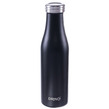 Drinco Vacuum Insulated Stainless Steel Water Bottle, Double Wall, Triple Insulated, Leak Proof, Powder Coated, 18/8 Grade, Slim Stainless Steel Water Bottle,17oz