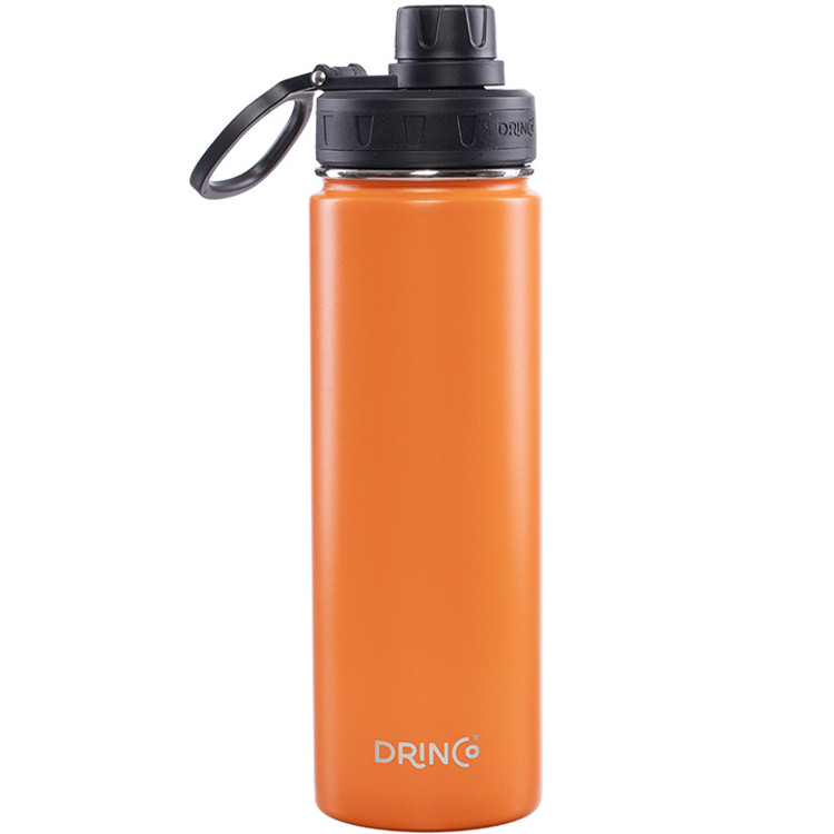 Drinco Vacuum Insulated Stainless Steel Water Bottle, with Spout Lid, Wide Mouth, Leak Proof, Powder Coated, Double Wall, 18/8 Grade, Stainless Steel Water Bottle 20oz.